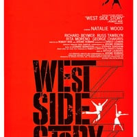 West Side Story - Movie Musical Poster Print  -13x19 - Vintage Movie Poster - Broadway Musical - Mid Century Modern Art