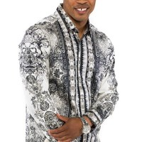 Prestige White Royalty Button-Up Shirt
