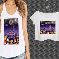 disney land For Woman Tank Top , Man Tank Top / Crop Shirt, Sexy Shirt,Cropped Shirt,Crop Tshirt Women,Crop Shirt Women S, M, L, XL, 2XL**