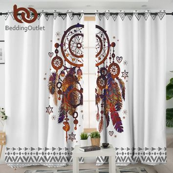 BeddingOutlet Dreamcatcher Living Room Curtain Hipster Watercolor Curtain for Bedroom Bohemia Window Treatment Drapes Home Decor