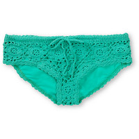 Beach Riot Cherokee Mint Green Crochet Bikini Bottom at Zumiez : PDP