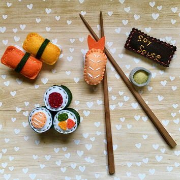 Sushi Roll Cat Toy with Catnip and Jingle Bell