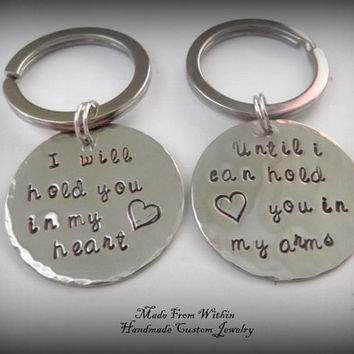 Long Distance Relationship Key Chains by MadeFromWithin on Etsy