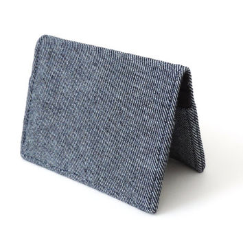Fold Wallet Slim Bifold Wallet Blue Denim