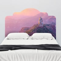 Paul Moore's Sunset Over Mt. Hayden Headboard wall decal