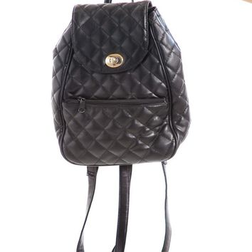 Vintage 90's Quilted Mini Backpack
