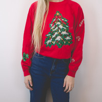 Vintage Tree Ugly Christmas Sweatshirt