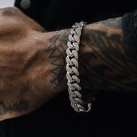 Diamond Cuban Link Bracelet (12mm)