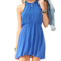 Cutout Bubble Hem Dress