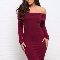 Cameryn Dress - Burgundy