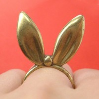 ONE DOLLAR SALE - 3D Bunny Rabbit Animal Ears Ring Sizes 5 and 6