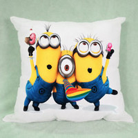 Cute Despicable Me Movie 3 Minions Pillow Case Cushion 16 18 20 2 Side Cover