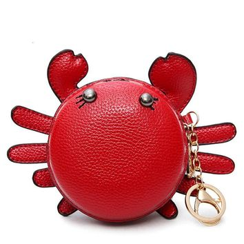 Crabby Lady Cute Crab Wallet With Keychain