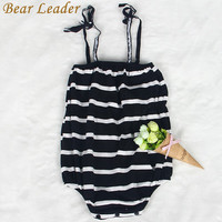 Bear Leader Baby Rompers 2017 New Summer Style Baby Girls Clothes Cotton Striped Print Newbron Clothes 4-24months Kids Jumpsuit
