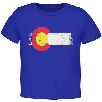 Born and Raised Colorado State Flag Toddler T Shirt