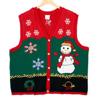 Third Grader Snowman Tacky Ugly Christmas Sweater Vest – New!