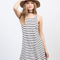 Casual Striped Tank Dress