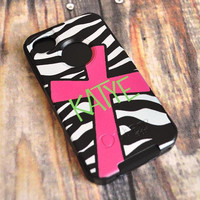 Otterbox Commuter Case Personalized for iPhone, Blackberry, HTC - Zebra Cross Style