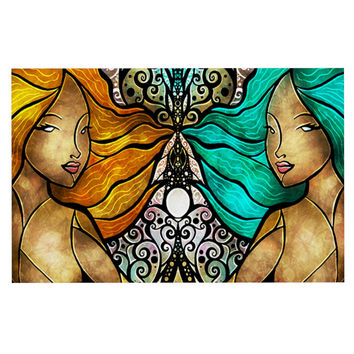"Mandie Manzano ""Mermaid Twins"" Decorative Door Mat"