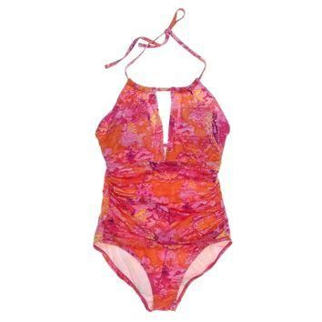Lauren Ralph Lauren Womens Oceania Printed Halter One-Piece Swimsuit