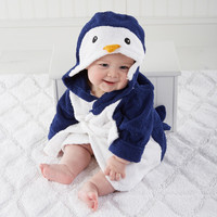 Wash & Waddle Penguin Hooded Spa Robe Personalization Available