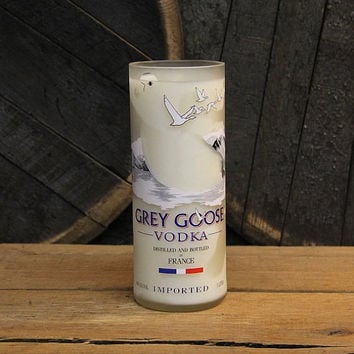 Grey Goose Vodka Candle, Recycled Vodka Bottle Handmade Soy Candle 1L Recycled Glass Bottle 22oz Soy Wax, College Student Furninture Decor