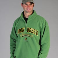 John Deere® Men's 1/4 Zip Micro Fleece Pullover Shirt