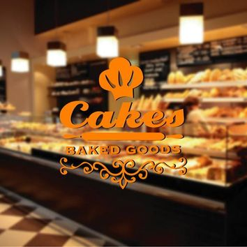 ik2065 Wall Decal Sticker Cupcakes baked food bakery