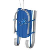 Forever Collectibles Detroit Lions Christmas Sled Ornament