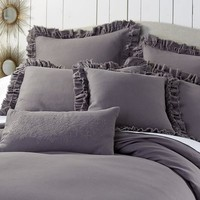 Sorrento Duvet Cover & Sham -Charcoal