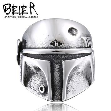 Star Wars Force Episode 1 2 3 4 5 BEIER  Clone Trooper Ring Stainless Steel New Designed Movie Jewelry Unique Gift For Friend BR8-293 AT_72_6