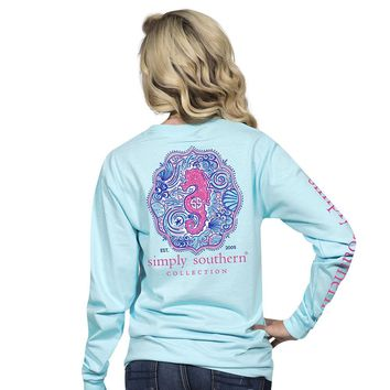 "Youth Simply Southern ""Seahorse"" Long Sleeve Tee"