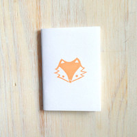 Small Notebook: Fox, For Him, For Her, White, Orange, Gift, Fox Face, Simple, Kids, Jotter, Cute, Small Notebook, Stamped, Unique, WH1o