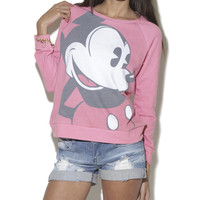 Happy Mickey Sweatshirt  | Shop Graphic Impact at Wet Seal