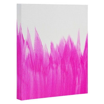 Allyson Johnson Pink Brushed Art Canvas