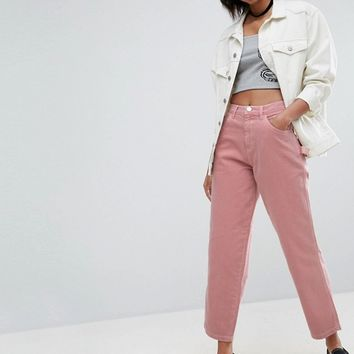 ASOS Carpenter Jeans in Washed Pink at asos.com