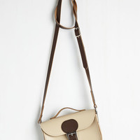 Vintage Inspired Have Style, Will Travel Bag in Latte by Brit-Stitch from ModCloth