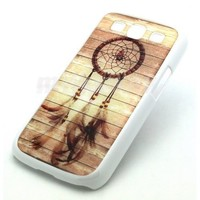 WHITE Samsung Galaxy S3 SIII i9300 Snap On Case WOOD DREAMCATCHER feather mayan aztec tribal