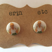 Handmade Plastic Fandom Earrings - Comic Pinup - Arisia