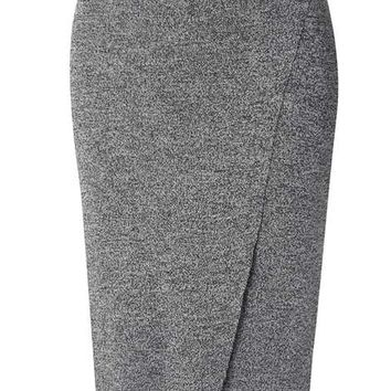 Salt And Pepper Wrap Skirt