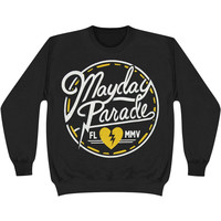 Mayday Parade Men's  Circle Logo Sweatshirt Black