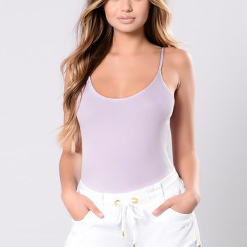 Got My Attention On You Bodysuit - Lavender
