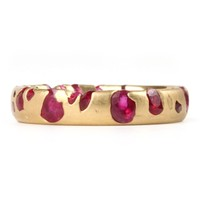 Catbird :: shop by category :: JEWELRY :: Narrow Band - rubies, yellow gold