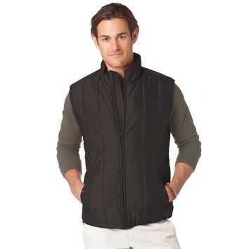 Chaps Quilted Microfiber Vest