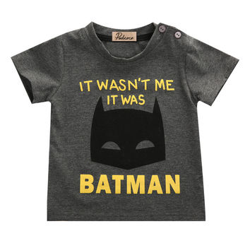 Cool Batman Kids Short Sleeve Summer T-Shirt