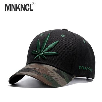2017 New Fashion Embroidery Maple Leaf Cap Weed Snapback Hats For Men Women Cotton Swag Hip Hop Fitted Baseball Caps