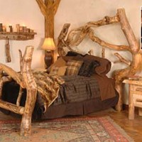 Log Bed Crazy Horse Log Bedroom Furniture - Free Shipping!