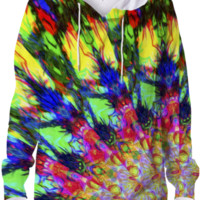 Psychedelic Burst Hoodie created by Webgrrl | Print All Over Me