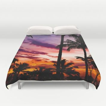 Fire In The Sky Duvet Cover by Gallery One