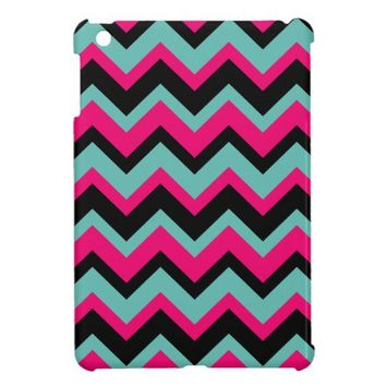 blue pink black Chevron Pattern iPad Mini Cases from Zazzle.com